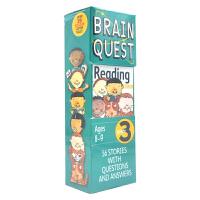 Brain Quest Reading Grade 3 美国智力问答卡片 阅读科目 大脑任务 bq问答卡 阅读 三年级