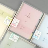 A5分类活页本可换替芯B5小清新创意可爱学生用韩版活页夹A4活页笔记本办公记事本文具加厚可拆卸读书日记本