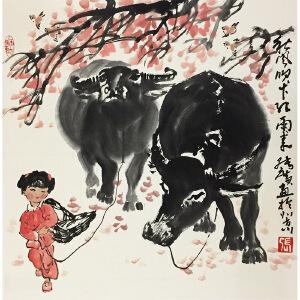 张广《秋风吹下弘雨来》著名画家