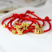 「中国风手链」创意民族风小猪红绳手链男女简约编织闺蜜礼物饰品