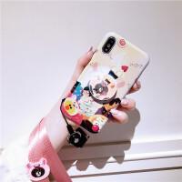 新款苹果x手机壳6s女款6iPhone8蓝光7plus网红六潮牌7p防摔八 i6/6s 4.7寸 蛋糕熊