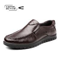 骆驼动感(camel active)男鞋休闲鞋子男绑带牛皮时尚单鞋