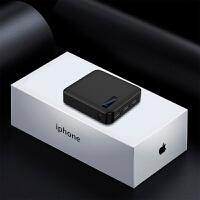 小巧便携迷你通用充电宝大容量20000M苹果8Xoppo毫安移动电源 炫酷黑标配 3USB
