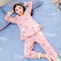 儿童睡衣秋季薄款套装宝宝家居服