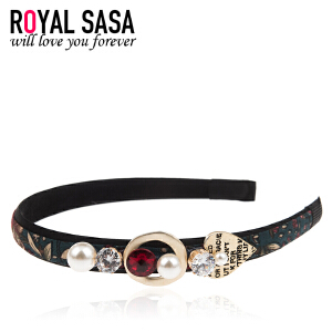 皇家莎莎RoyalSaSa韩版细发箍头箍韩国水钻简约甜美发卡压发头饰发饰发带饰品HFS509406