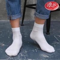 4双袜子男士纯棉袜防臭夏天超薄短袜浪莎男袜 夏季薄款黑色长袜