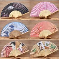 女式折扇日式和风扇摆件樱花富士山绢布扇子日本餐厅酒店用品摆件2