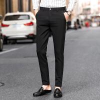 新款男装小脚裤青年韩版修身休闲裤英伦时尚长裤子男裤子免烫