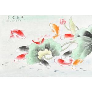当代著名画家  杨迪莲年有余gh03953