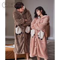 轩之婷 睡袍情侣秋冬款女长款珊瑚绒加厚加绒保暖男士可外穿睡衣浴袍冬季