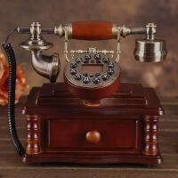 至臻时尚高档仿古电话机欧式仿实木有绳复古创意座机古董电话机