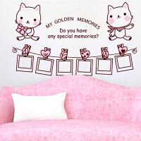 创意照片墙贴纸客厅卧室床头电视背景墙温馨装饰壁纸贴画相框贴纸
