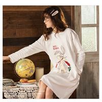 【NJR&秋冬新品】南极人睡衣女士家居服睡裙可外穿棉质舒适透气KH6219