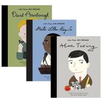 Little People Big Dreams 小人物大梦想系列之小男孩传记3册 英文原版 马丁路德金 艾伦图灵 英文