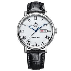 法国复古时尚腕表品牌:雍加毕索Yonger& Bresson-Beaumesnil 博梅尼勒堡系列 YBH 8372-10 B 机械男表