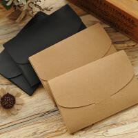 230克牛皮纸明信片封套信封空白卡盒照片贺卡包装盒子16*10.5厘米
