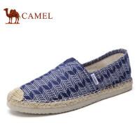 camel 骆驼男鞋 夏季新品印花渔夫布鞋舒适帆布百搭休闲套脚鞋