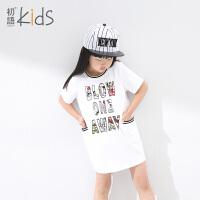 初语童装女童夏装新款连衣裙运动休闲儿童裙子夏装女 潮T6224310072