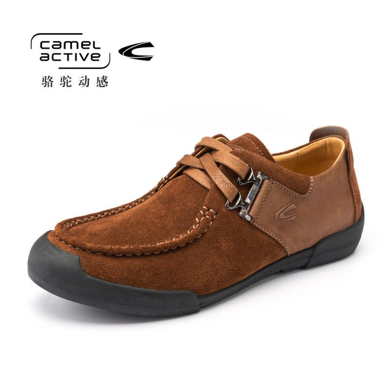 Camel Active/骆驼动感秋冬男士豆豆鞋真皮头层皮休闲驾车鞋男鞋