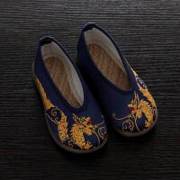 男童绣花鞋儿童复古中国风汉服古装老北京布鞋古风表演宝宝演出鞋