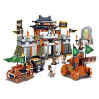 小鲁班积木玩具拼装三国军事合肥之战儿童男孩益智组装