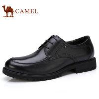 camel 骆驼男鞋 秋季新品商务休闲皮鞋系带舒适真皮皮鞋子男