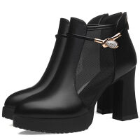 春鞋新款高跟鞋深口透气网靴单鞋优雅高跟鞋皮鞋女鞋子1861