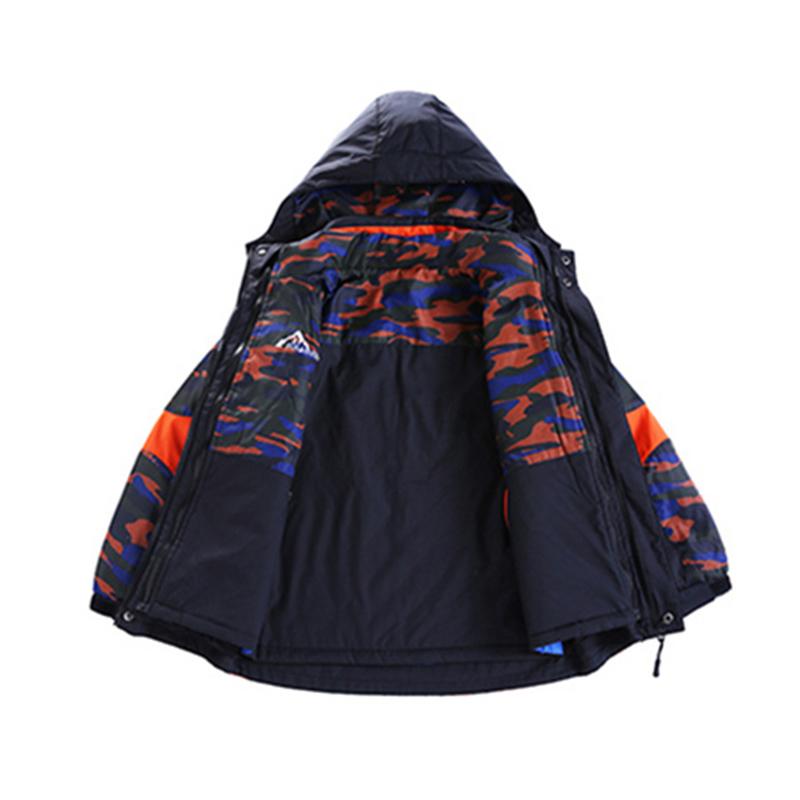 大男童外套春秋冬季儿童装可拆卸三合一冲锋衣棉衣