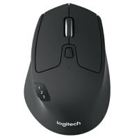 罗技(Logitech)M720 鼠标 无线蓝牙鼠标 办公鼠标 右手鼠标 大手鼠标 优联 黑色 带无线2.4G接收器