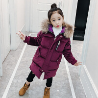 女童棉衣冬装儿童棉袄中大童外套长款