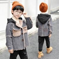 童装男童冬装外套儿童秋冬季男孩棉衣潮