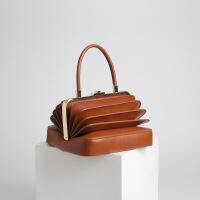 女士手提包女士潮流时尚个性手提小包欧美新款个性设计走秀小众款复古独特手提风琴女包包