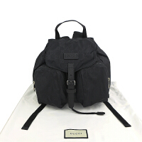 Gucci黑色织物抽绳双肩包 40636