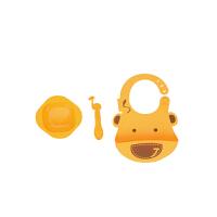 【当当自营】加拿大 MARCUS&MARCUS 婴儿喂食礼品套装 黄色长颈鹿