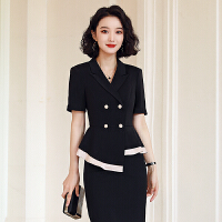职业套装女夏季短袖西装套裙时尚美容师珠宝店工作服气质正装空姐制服