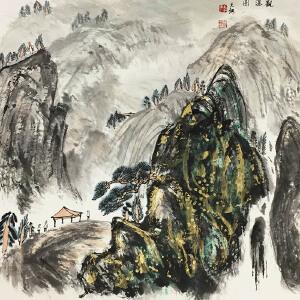 孙克纲《观瀑图》著名画家