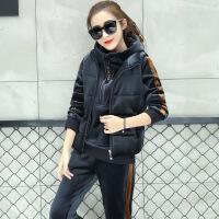 加绒加厚卫衣三件套女冬装新款金丝绒韩版时尚保暖休闲运动服套装