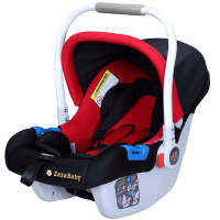 【当当自营】 英国zazababy 婴儿提篮式安全座椅0-1岁 黑红