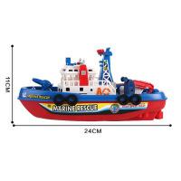 消防船小船玩具水面����跑�l光音�放�艇船