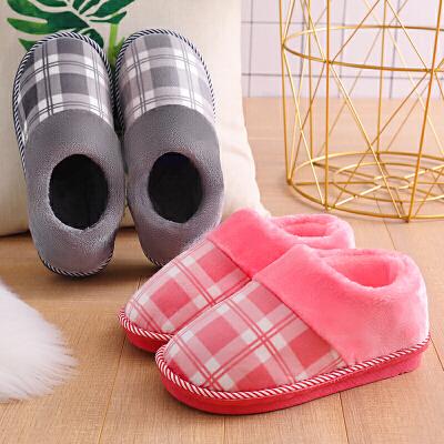 包跟棉拖鞋女冬季情侣居家居加绒防滑厚底室内保暖月子鞋毛毛拖男