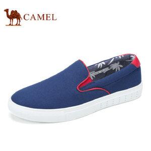 camel 骆驼男鞋 夏季新品低帮帆布鞋懒人鞋套脚休闲潮鞋男
