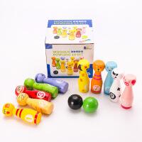新款卡通动物平头大号保龄球幼儿童健身玩具亲子益智玩具