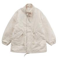 女2018新款棉衣加厚�n版冬�W生羊羔毛��松bf百搭短款工�b外套