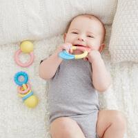Hape儿童智体发展玩具摇铃&牙胶三件套(大米材质)0M+
