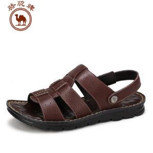 骆驼牌男凉鞋 夏季新品日常休闲沙滩鞋头层牛皮耐磨透气