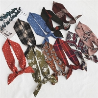 头巾发带学院风复古学生春秋季饰小领巾细窄长条