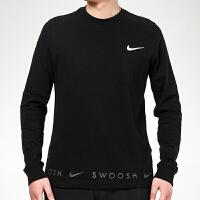 幸运叶子 Nike/耐克男装春季新款运动服休闲上衣舒适透气圆领印花卫衣套头衫DA0336-010
