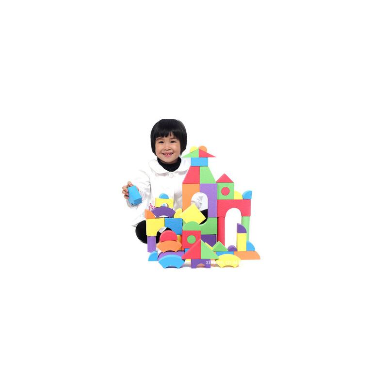 斯尔福积木压花 超轻EVA软体积木泡沫积木 益智安全大块玩具50块