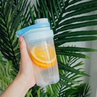 汉馨堂 塑料杯 韩版简约运动摇摇杯便携健身塑料水杯户外男女创意个性潮流随手杯
