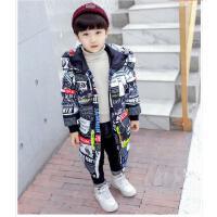 男童冬装外套宝宝冬季中长款羽绒洋气棉袄潮